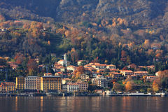 Fall time on Lake Como in Italy. Stock Photography