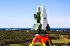 Survey total station Stock Photos