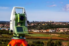 Survey total station Royalty Free Stock Image