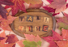 Fall Time Plaque Stock Photo