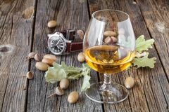 Fall it is tome to drink whisky Royalty Free Stock Images