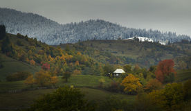 Fall on top of the mountains Royalty Free Stock Images