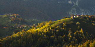 Fall on top of the mountains Stock Photography