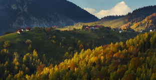 Fall on top of the mountains Royalty Free Stock Photo