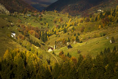Fall on top of the mountains Stock Images