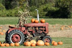 Fall Tractor Stock Photography