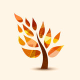 Fall tree symbol concept design for nature help Stock Photography