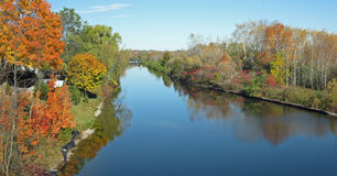 Fall on Trent River. Fall colours on Trent River, Peterborough, Ontario, Canada Royalty Free Stock Photo