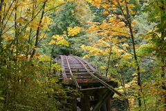 Fall trestle Royalty Free Stock Images