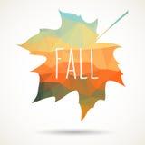 Fall triangular maple leaf Royalty Free Stock Photo