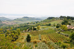 Fall Tuscany landscape Royalty Free Stock Images