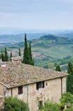 Fall Tuscany landscape Stock Photo