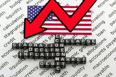 The fall of the US economy Royalty Free Stock Photography