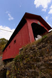 Fall in Vermont. Photo of an old covered bridge in Vermont during fall time Stock Photo