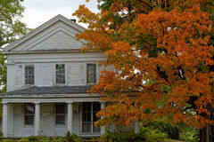 Fall in Vermont. Photo of an old house in Vermont during fall time Royalty Free Stock Images