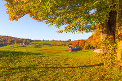 Fall in Vermont. Weathered old red barn,Vermont, USA Stock Photography