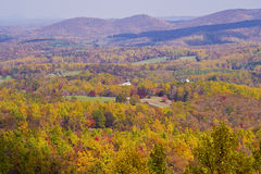 Fall vista. View from the Blue Ridge Parkway Stock Photo