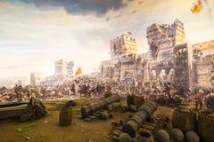Fall von Konstantinopele im Jahre 1453 Lizenzfreies Stockbild