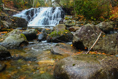 Fall Waterfall. A little waterfall on Stokely creek in Goulais River Ontario Stock Photography
