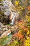 Fall Waterfall at Seoraksan, South korea Royalty Free Stock Images