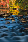 Fall Waterscape. The Fall colors along Creek Rd in Chester County PA stock image