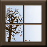 Fall Window Royalty Free Stock Photos