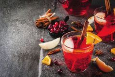 Cranberry and orange punch Stock Photos