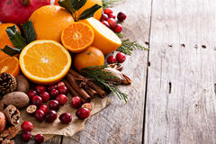 Fall and winter ingredients still life Royalty Free Stock Photos
