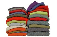 Fall and winter sweaters wool or cashmere Royalty Free Stock Images