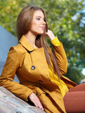 Fall woman smiling Royalty Free Stock Image