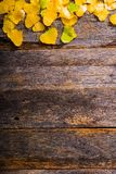 Fall Wooden Background Stock Photos