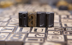Fall  in wooden typeset. The word Fall  in wooden rustic typeset Stock Image