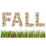 fall word Stock Photo