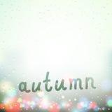 Fall word written on Sweaty Window Stock Photos