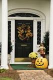 Fall-Wreath und Dekor Stockfoto