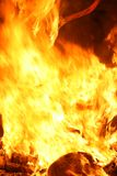 Falla ardiendo en Valencia. Fuego. Imagenes de archivo