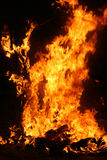 Falla ardiendo en Valencia. Fuego. foto de archivo