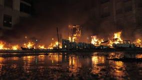Falla burning out on La Crema night