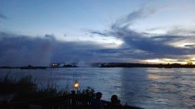 Falla de Zambezi River Victoria Fotos de Stock Royalty Free