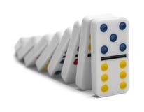 Falla för domino Royaltyfri Bild