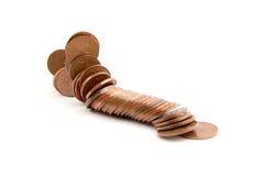 falla för mynt Arkivfoto