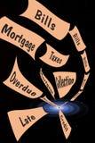 falla för skuld Arkivbilder