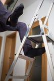 Falla ner från den klev ledaren Fotografering för Bildbyråer
