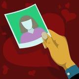 Falla som är förälskat och hålls stirra på fotoet Arkivfoto