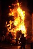 Falla su fuoco Fotografia Stock Libera da Diritti