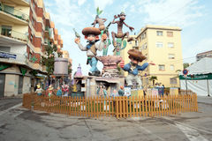 Falla in Valencia Lizenzfreies Stockfoto