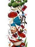 Fallande Alice royaltyfri illustrationer