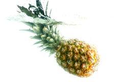 fallande ananasvatten royaltyfri fotografi