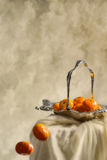 fallande apelsiner Arkivbilder