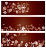 Fallande banerbakgrund för snö Royaltyfri Foto